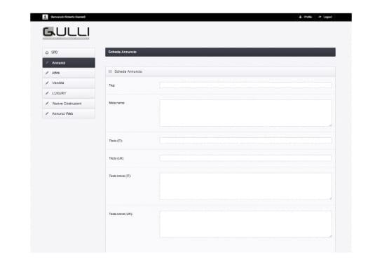 Progetto realizzato per GULLI IMMOBILIARE da Ermes Digital, Sudio grafico, web e seo Milano