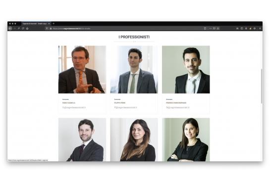 Progetto realizzato per Studio Legale Cagnola & Associati da Ermes Digital, Sudio grafico, web e seo Milano