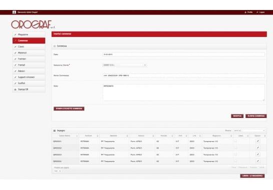 Progetto realizzato per OROGRAF da Ermes Digital, Sudio grafico, web e seo Milano