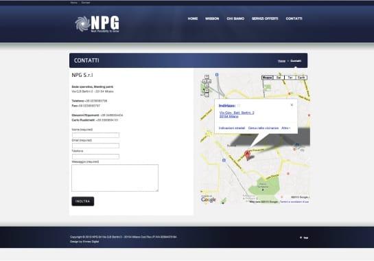 Progetto realizzato per NPG da Ermes Digital, Sudio grafico, web e seo Milano