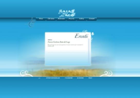 Progetto realizzato per BAIA DEL LAGO da Ermes Digital, Sudio grafico, web e seo Milano
