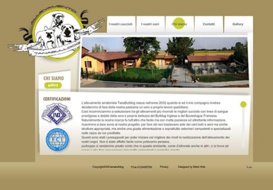 Progetto realizzato per TANA BULLDOG da Ermes Digital, Sudio grafico, web e seo Milano