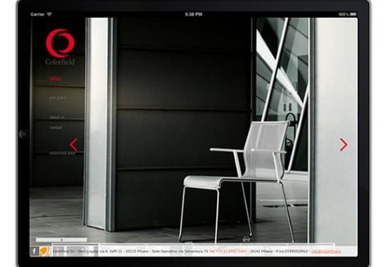 Progetto realizzato per COLORFIELD da Ermes Digital, Sudio grafico, web e seo Milano
