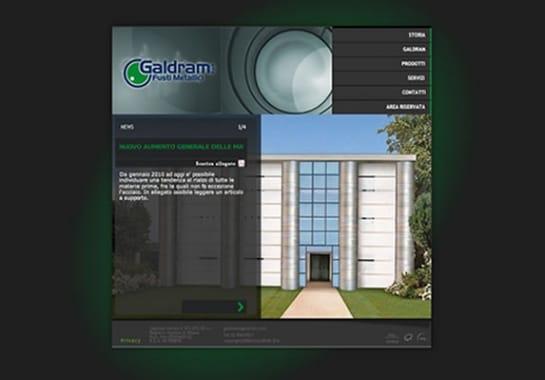 Progetto realizzato per GALDRAM da Ermes Digital, Sudio grafico, web e seo Milano