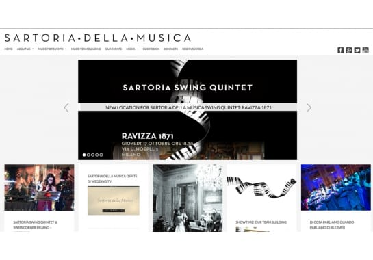 Progetto realizzato per Sartoria della Musica da Ermes Digital, Sudio grafico, web e seo Milano