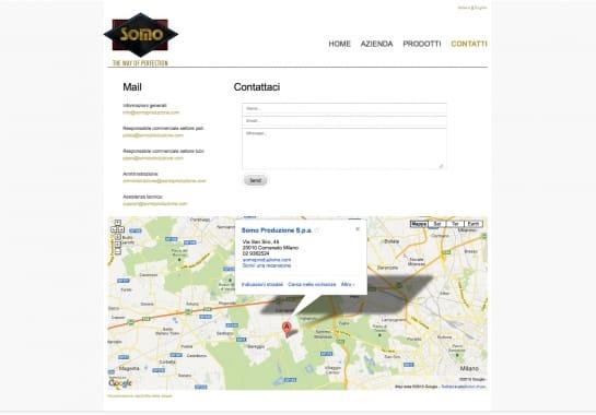 Progetto realizzato per SOMO SRL da Ermes Digital, Sudio grafico, web e seo Milano