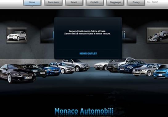 Progetto realizzato per MONACO AUTOMOBILI da Ermes Digital, Sudio grafico, web e seo Milano