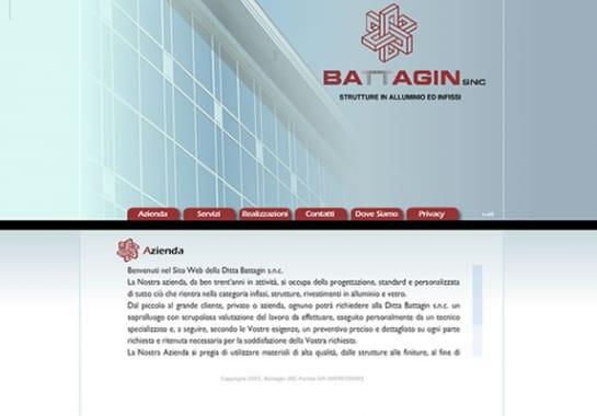 Progetto realizzato per BATTAGIN INFISSI da Ermes Digital, Sudio grafico, web e seo Milano