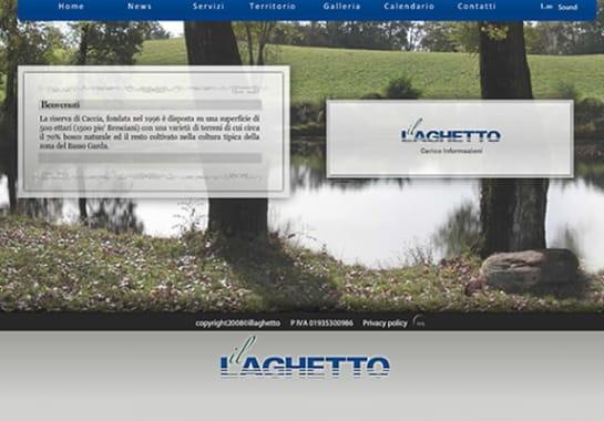 Progetto realizzato per IL LAGHETTO da Ermes Digital, Sudio grafico, web e seo Milano