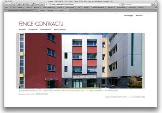 Progetto realizzato per FENICE CONTRACT da Ermes Digital, Sudio grafico, web e seo Milano