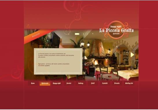 Progetto realizzato per La Piccola Grotta da Ermes Digital, Sudio grafico, web e seo Milano