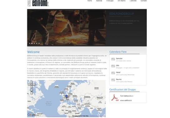 Progetto realizzato per EDILFOND SPA da Ermes Digital, Sudio grafico, web e seo Milano