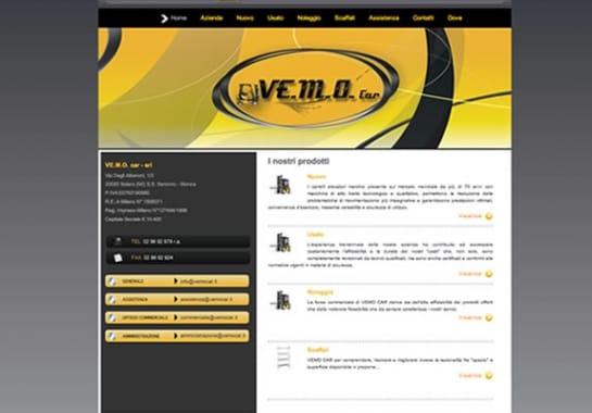Progetto realizzato per VEMOCAR da Ermes Digital, Sudio grafico, web e seo Milano
