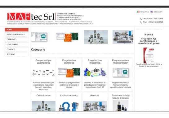 Progetto realizzato per MAFTEC da Ermes Digital, Sudio grafico, web e seo Milano