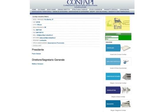 Progetto realizzato per CONFAPI ROMA da Ermes Digital, Sudio grafico, web e seo Milano