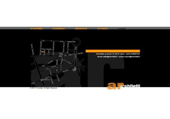Progetto realizzato per AR ARCHITETTI da Ermes Digital, Sudio grafico, web e seo Milano