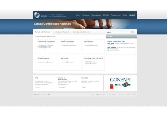 Progetto realizzato per FAPI (Fondo Formazione PMI) da Ermes Digital, Sudio grafico, web e seo Milano